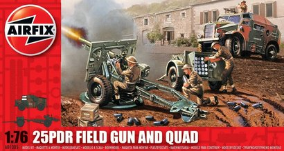 * Classic Kit military A01305 - 25pdr Field Gun and Quad  1:76