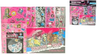 MH mega set samolepky + album Monster High